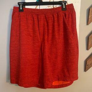 "Men's large Lululemon Pacebreaker 9"" shorts."